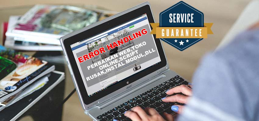 error handling perbaikan web toko online