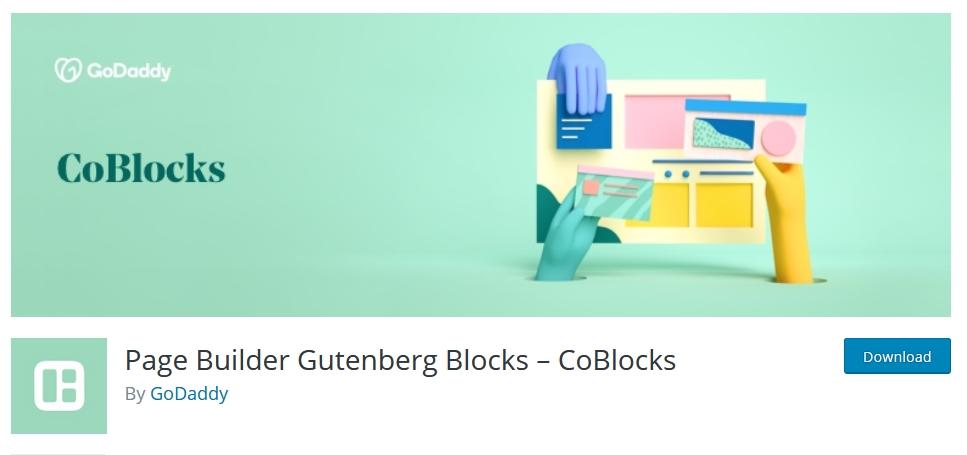 page builder wordpress coblock kursuswebpro