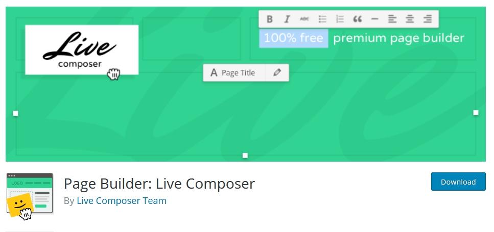 page builder wordpress live composer kursuswebpro