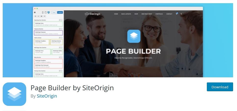 page builder wordpress siteorigin kursuswebpro